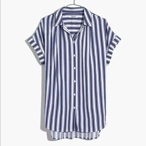 Madewell Central Shirt in blue stripes